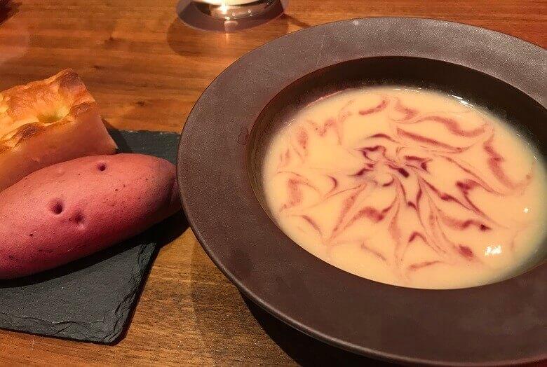 八芳園1周年記念ディナー(スープ)
