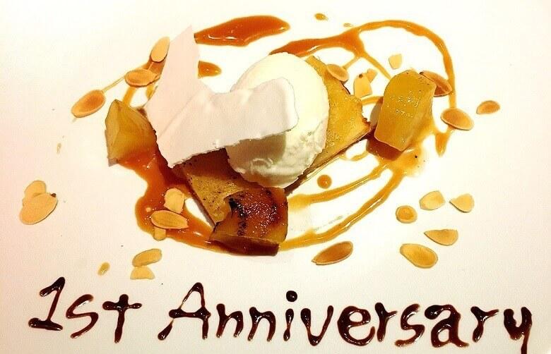 八芳園1周年記念ディナー(デザート)