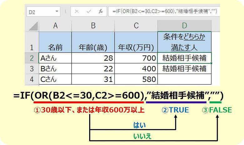 エクセルOR関数3