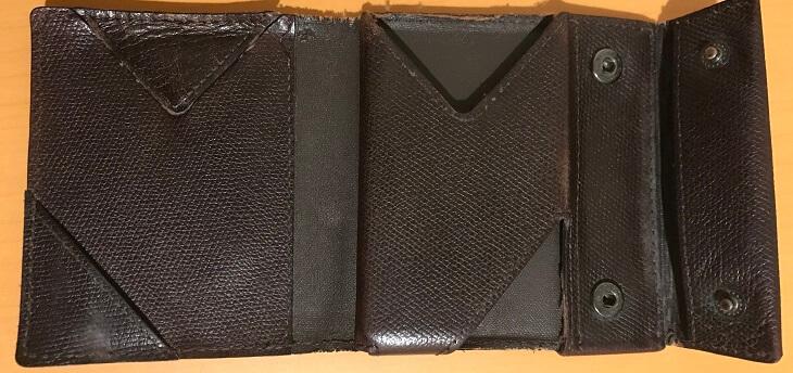 アブラサス薄い財布の裏面