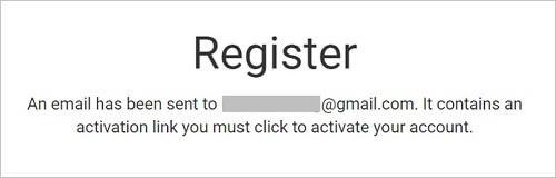 画像説明:Register(登録)と表示されます。