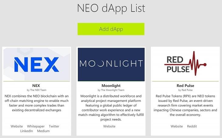 NEO dApp List