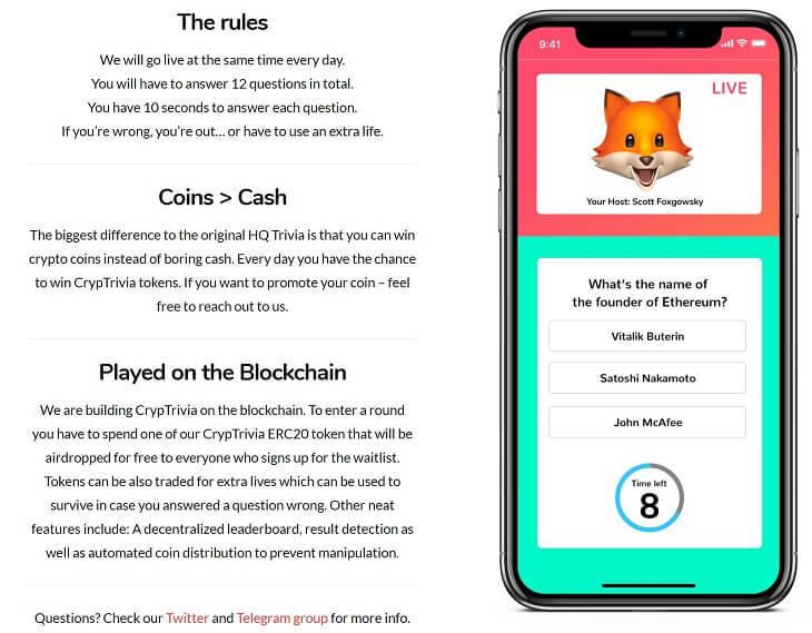 ブロックチェーン上のクイズゲーム