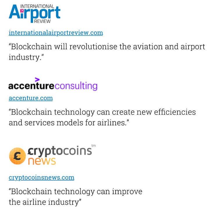 ブロックチェーン×航空業界は相性が良い(引用:ホワイトペーパー)