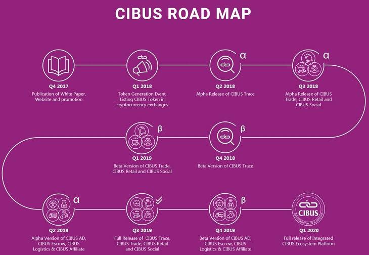 CIBUSのロードマップ