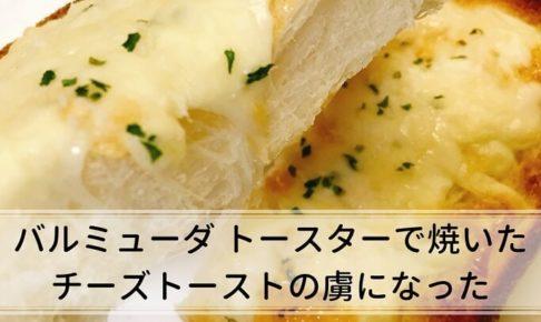 バルミューダトースタ―でチーズトーストを焼いてみた