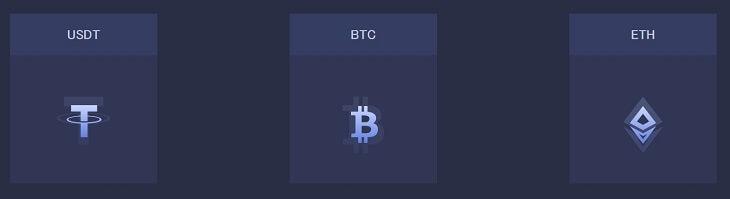 BTC・ETC・USDTで取引可能