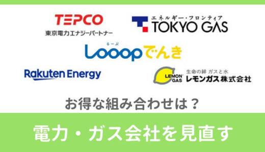 【年間1万円の節約】電力・ガスのお得な組み合わせは?会社をまとめた方が安いか比較