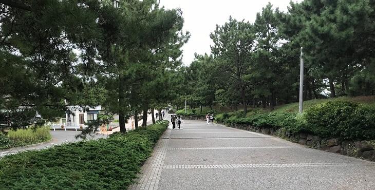 八景島駅からシーパラダイスに向かう途中