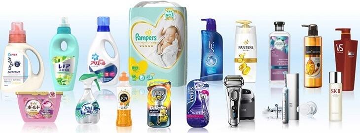 P&Gの製品たち