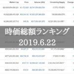 仮想通貨時価総額ランキング2019/6/22