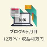 ブログ6ヶ月目