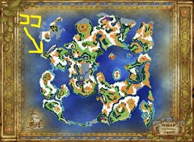 DQ6下の世界 全体マップ→アモール西のほこら