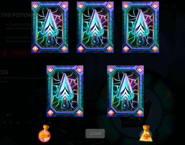 カードを引く瞬間