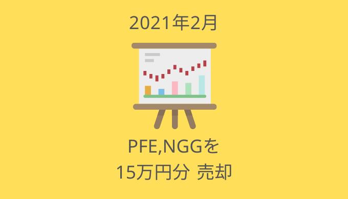 PFE,NGGを売却