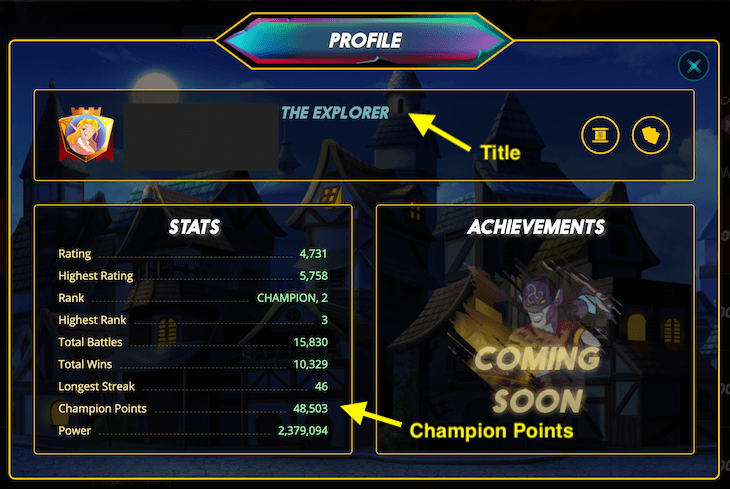 Champion PointsやTitles