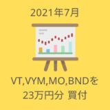 2021年7月の買付ログ