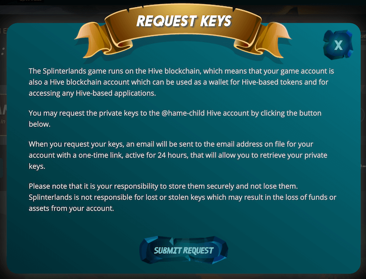 [Submit Request]を押す